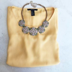 Pastel Floral Bib Necklace